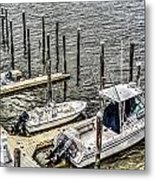 Ocnj Boats At Marina Metal Print