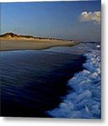 Ocracoke Surf Metal Print