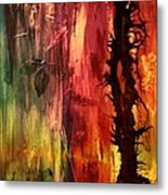 October Abstract Metal Print