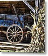 October Barn Metal Print by Jan Amiss Photography
