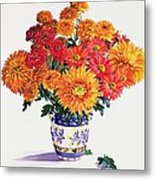 October Chrysanthemums Metal Print by Christopher Ryland
