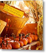 October Market Metal Print