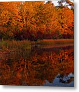 October Mirror Metal Print