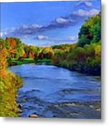 October On The Cuyahoga Metal Print by Dennis Lundell