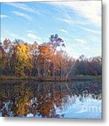 October Pond View Metal Print