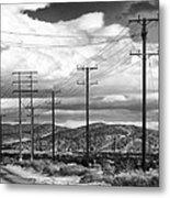 October Road Palm Springs Metal Print