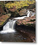 October Stop At Aaron's Cascade Metal Print