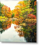 Octobers Paintbrush Metal Print