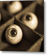 Oddities Fake Eyeballs Metal Print by Edward Fielding