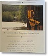 Ode To The Blue Heron Metal Print