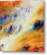 Odyssey - Abstract Art By Sharon Cummings Metal Print