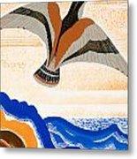 Odyssey Illustration  Bird Of Potent Metal Print