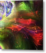 Of Frogs And Flowers Metal Print