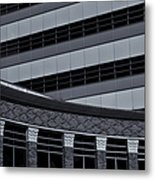 Of Lines And Curves  Mono Metal Print