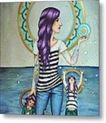 Of The Sea Metal Print by Lucy Stephens