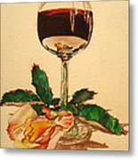 Of Wine And Roses Metal Print