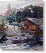 Off Hours At The Ship Yard In Kirchdorf Island Poel Metal Print