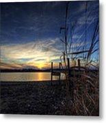 Off Season Sunset At The Lake Metal Print