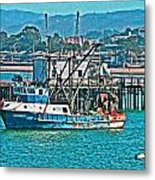 Off Shore Fishing Metal Print