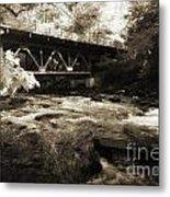 Off The Delaware River Metal Print