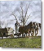Off To The Field Metal Print