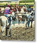 Off To The Race Metal Print