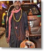 Offerings To Sani - Saturn - Pahar Ghanj Market - New Delhi Metal Print