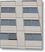 Office Building Windows Metal Print