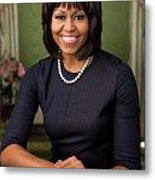 Official Portrait Of First Lady Michelle Obama Metal Print