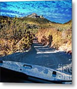 Offroad Driving View From Inside The Car Metal Print