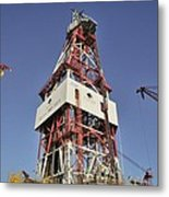 Offshore Drilling Tower Metal Print