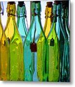 Ogunquit Bottles Metal Print