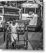 Oh Calcutta Monochrome Metal Print