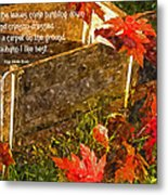 Oh How I Love Autumn With Poetry Metal Print