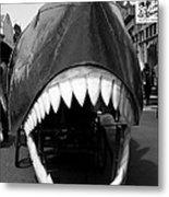 Oh The Shark Bites Metal Print