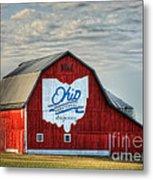 Ohio Bicentennial Barn -van Wert County Metal Print