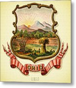 Ohio Coat Of Arms - 1876 Metal Print
