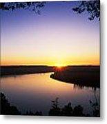 Ohio River At Sunrise Metal Print by David Davis