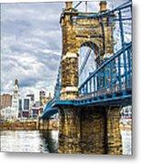Ohio River Bridge Metal Print