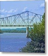 Ohio River Crossing Metal Print