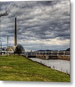 Ohio River Lock Metal Print
