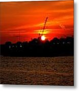 Ohio River Sunset Metal Print