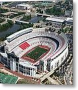 Ohio Stadium Aerial Metal Print