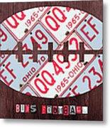 Ohio State Buckeyes Football Recycled License Plate Art Metal Print