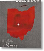 Ohio State University Buckeyes Columbus Ohio College Town State Map Poster Series No 005 Metal Print