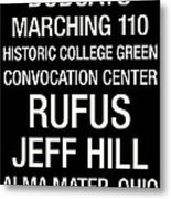 Ohio University College Town Wall Art Metal Print by Replay Photos