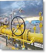 Oil And Gas Metal Print