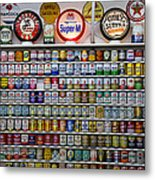 Oil Cans And Gas Signs Metal Print by Garry Gay