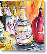 Oil Dispensers From Taormina Metal Print