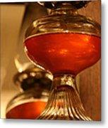 Oil Lamp In Red Metal Print